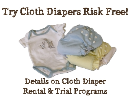 Try Cloth Diapers - Trials and rental programs