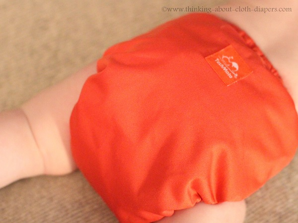 tushmate cloth diaper cover from the side