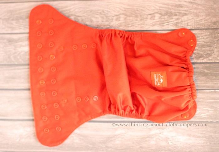tushmate diaper cover - outside - orange