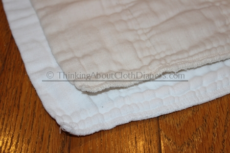 unbleached vs bleached prefold cloth diapers