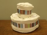 instructions to make a cloth diaper cake from prefolds