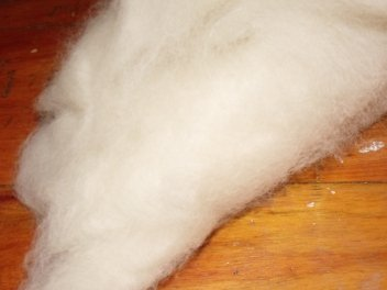 Wool batting used to make wool dryer balls
