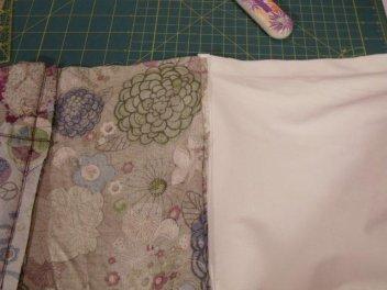 sewing a zippered wet bag