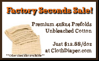 sale - factory seconds prefold cloth diapers