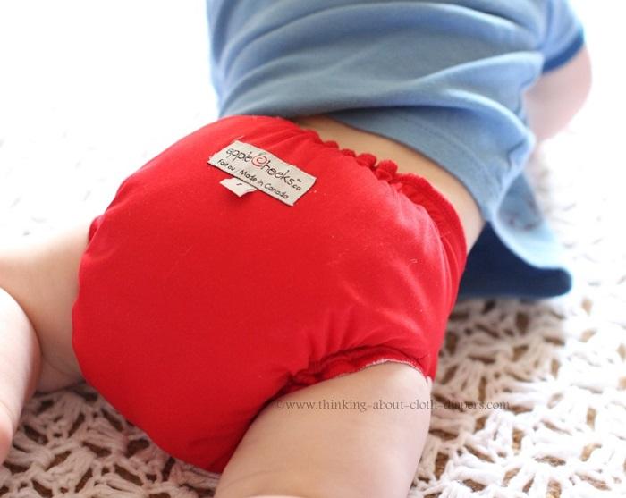 applecheeks cherry tomato - size 1 envelope cover on the bum
