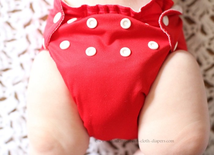 applecheeks envelope cloth diaper cover - two rows of snaps