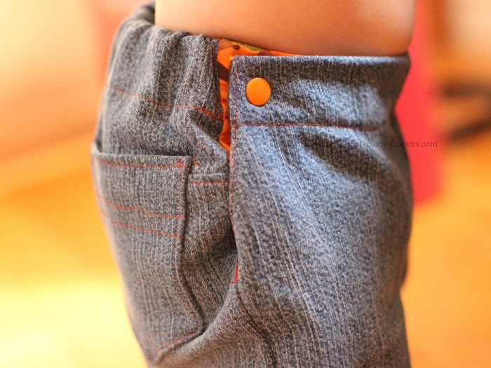 side pocket of beanstock britches cloth diaper jeans