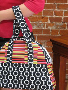 free sewing pattern for bowling bag - perfect as a diaper bag