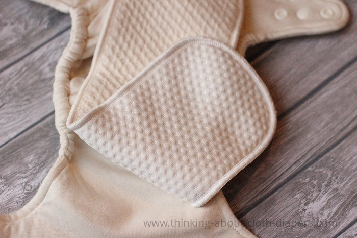 stay-dry organic cotton booster in bummis dimple diaper