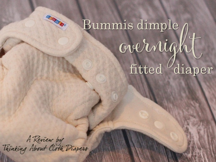 bummis overnight cloth diaper - the dimple fitted review