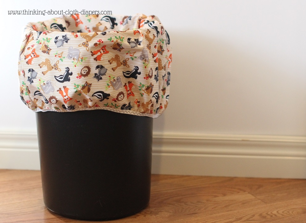 Diaper pail liner, Woodland Friends fabric from Babyville boutique