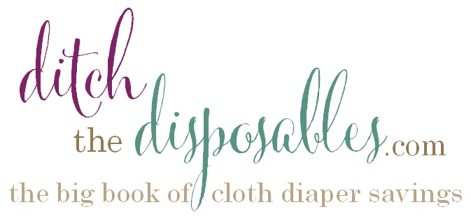 ditch the disposables big book of cloth diaper savings logo