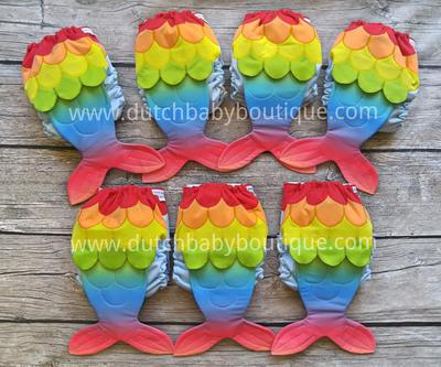Rainbow Mermaid by Dutch Baby Boutique