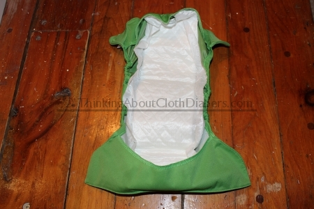 Flip diaper with disposable insert