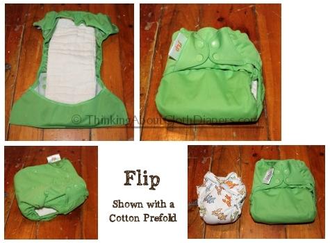Flip cloth diaper system