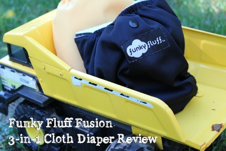 Funky Fluff Fusion Cloth Diaper Review from Thinking About Cloth Diapers - we love this super functional and affordable cloth diaper