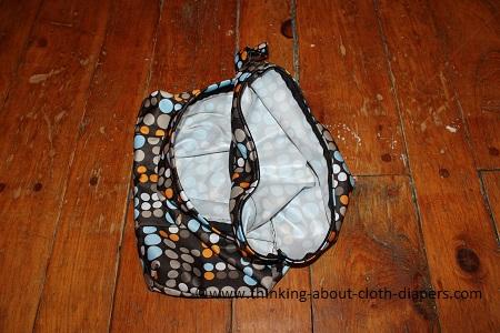 funky fluff wet bag 2 pockets