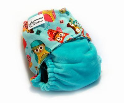 Greenchild - Owls Custom diaper