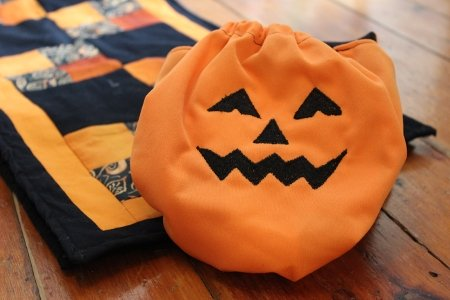 Halloween custom cloth diaper