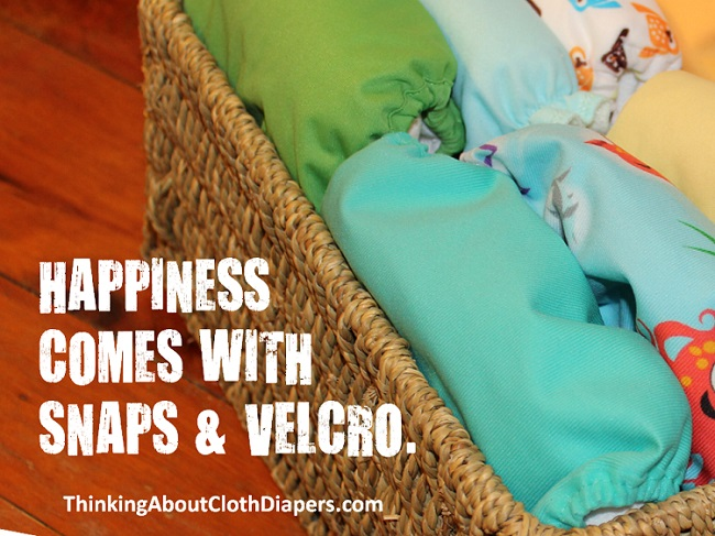 happiness is cloth diapers