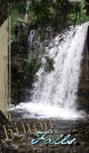 Hilton Falls waterfall near Milton Ontario Canada