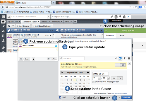 scheduling posts with hootsuite