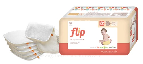 diaper inserts for hybrid diapers