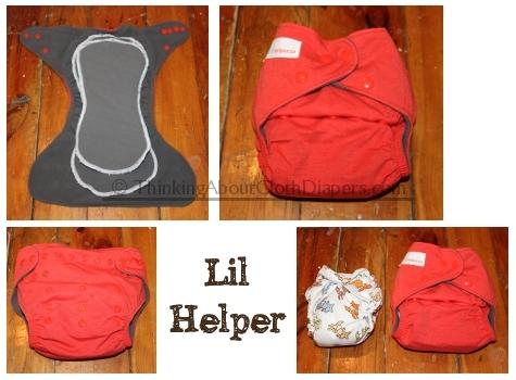 Lil Helper Charcoal Bamboo cloth diaper