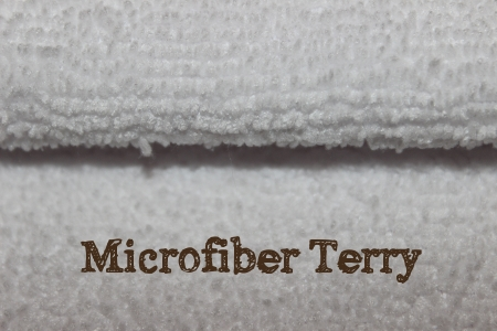 Microfiber terry for cloth diaper inserts
