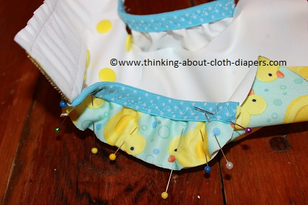 adding gussets to a newborn cloth diaper cover pattern
