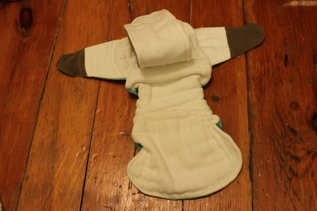 How to convert a prefold into an inexpensive fitted diaper