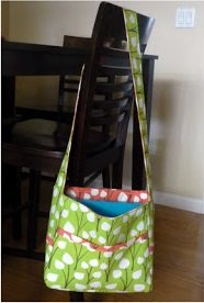 reversible messenger style diaper bag pattern free