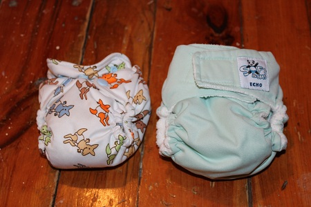 softbums one-size small enough for a newborn compared to rumparooz lil joey