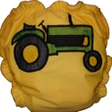 Tractor Applique Custom Cloth Diaper