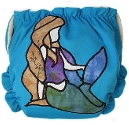 Mermaid Applique Custom Cloth Diaper